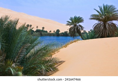 Libya,Sahara desert,the Ubari lakes area