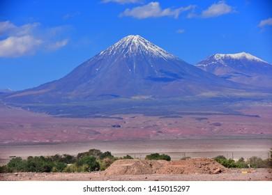 Licankabur Volcano in Atacama desert, chile near san pedro de atacama