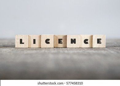 LICENCE word made with building blocks