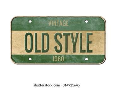 License plate. Old car number.