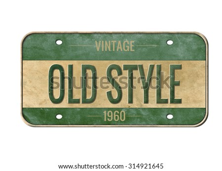license plate old car number stock photo (edit now) 314921645
