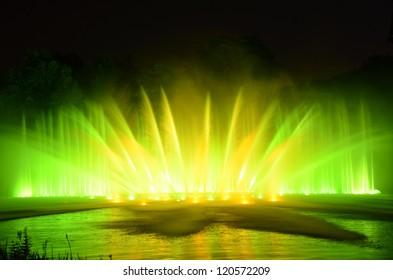 Licht Und Wasserspiele Im Park Planten Un Blomen Hamburg