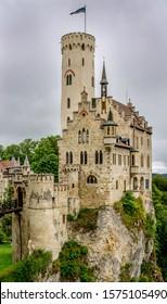 Lichtenstein castle. Baden Wurttemberg, Germany