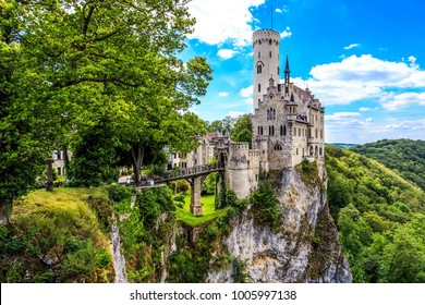Lichtenstein castle. Baden-Wurttemberg, Germany