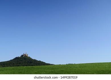 Lichtenstein Castle landscape grass view