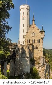 Lichtenstein Castle in the state of Baden-Wuerttemberg, Germany