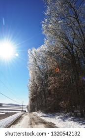 Licking County Ohio Winter Drive
