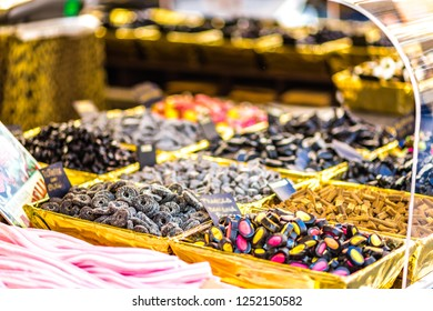 licorice candies for sale in street market