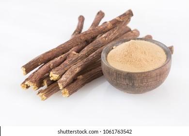 Licorice powder and roots - Glycyrrhiza glabra