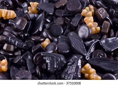 Licorice, a typical dutch kind of candy.
