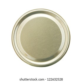 Lid or Base of Food Tin Can - Shutterstock ID 122632528