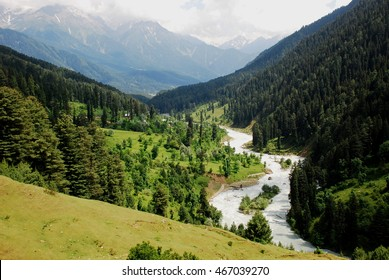Lidder River Valley in Pahalgam, Kashmir