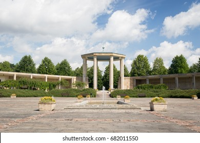 Lidice, Czech Republic - July 21, 2017: Lidice memorial, in memory of Lidice village that was destroyed by Nazis on 10 June 1942. All men executed and women and children sent to concentration camps.