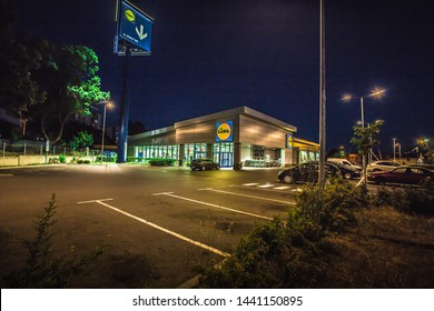Lidl is a German global discount supermarket chain, that operates over 10,000 stores across Europe.Burgas Bulgaria,June 28 2019