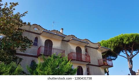Lido delle Nazioni, Emilia-Romagna, Italy- September 2018; old villa in Lido delle Nazioni, Adriatic Sea, Italy