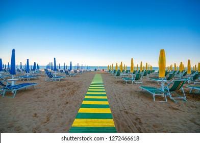Lido di Jesolo beach, Italy