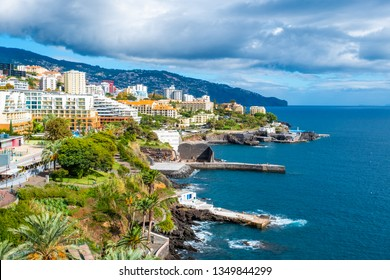 Lido hotel district in Funchal, Madeira island