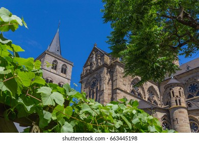 Liebfrauenkirche in Trier with blue sky.
