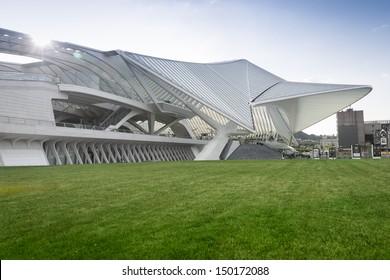 LIEGE, BELGIUM � AUGUST 10: New Liege-Guillemins railway station by Spanish architect, Santiago Calatrava on August 10, 2013 in Liege, Belgium..