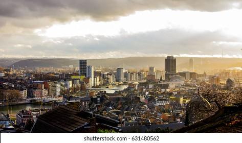 Liege Belgium City Skyline