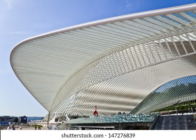 LIEGE, BELGIUM - JUNE 18: station Guillemins on June, 18, 2013 in Dusseldorf. The station is designed by world famous architect Santiago Calatrava.
