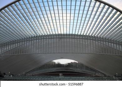 Liege  Guillemins train station   Liege city   Wallonia Belgium