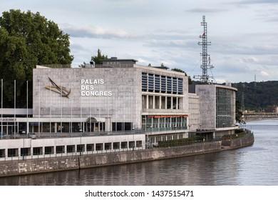 liege, Wallonia/belgium - 31 07 18: palais des congres building in liege belgium