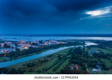 Liepaja city south end in morning, Latvia.