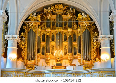 Liepaja, Latvia - august 10, 2014: the largest mechanical organ in the world until 1968