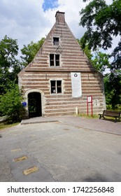 Lier, Belgium - July 11, 2018; The 'Spuihuis' is the former lock house on the 'Binnennete'. Now it is used for cultural and recreational activities.