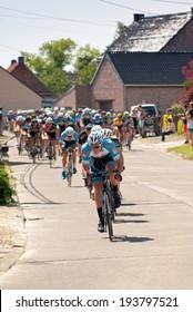 Lierde, BELGIUM - MAY 18, 2014: Cycle race in Belgium, Lierde, 18 May 2014, Elite z.c./U23, 1.12B, 119 km.  Sint-Martens-Lierde Tour