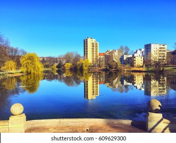 Lietzensee inner city lake in Berlin
