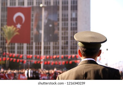 Lieutenant colonel with Turkish Flag