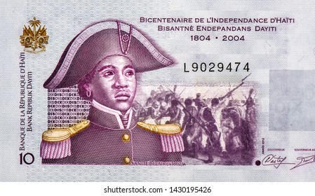 Lieutenant Mme Suzanne Sanite Belair. Portrait from Haiti 10 Gourdes 2004 Banknotes.