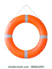 Life buoy isolated on a white background, Or Safety ring