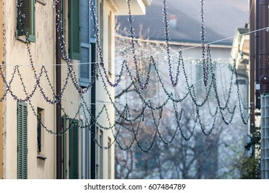 Life in the city during winter, nice soft tone colors photo