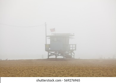 Life guard hut in Venice beach, California