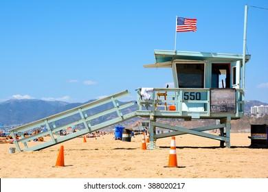 Life Guard on Santa Monica Beach