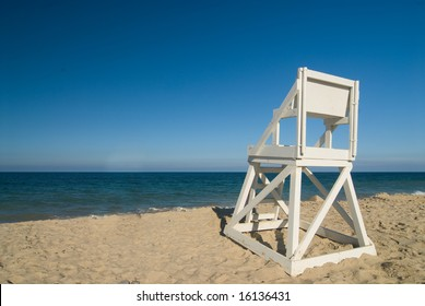 Life guard seat on a perfect beach