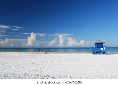 Life Guard shack on Siesta Key Beach