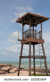 Life Guard Stand inside the beach