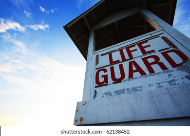 Life guard station, Rayong, Eastern of Thailand