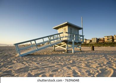 Life Guard Tower at Sunset
