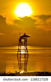 Life Guard Tower Under Palawan Sunset in the Philippines