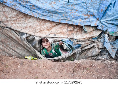 life in Idlib in the atma camp and refugee. On the brink of war three million refugees in Syria it is expected to come to Turkey.14 MARCH 2018 idlib at syria