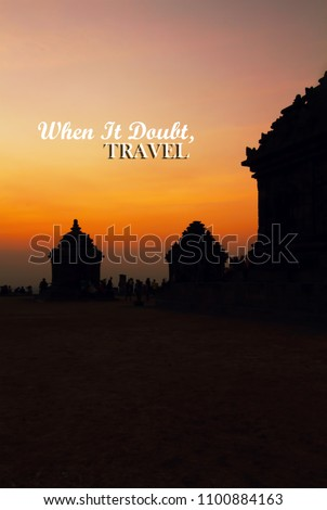 Life Inspirational Quotes When Doubt Travel Stock Photo Edit Now