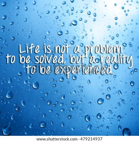 Life Inspirational Quotes Words Life Not Stock Photo Edit Now