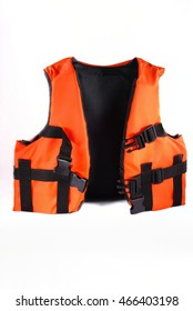 Life jacket isolated on white
