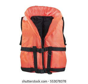 life jacket isolated on white background