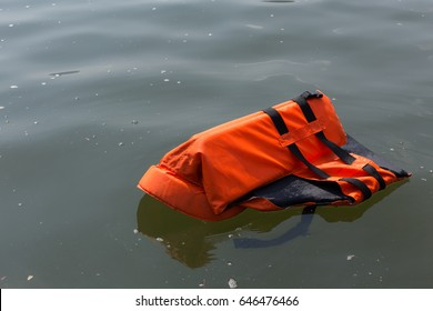 Life jackets were dumped in the sea.